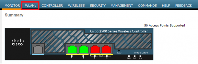 Cisco WLC WLANs