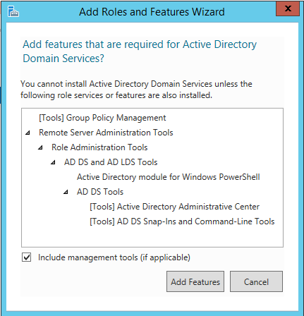 Active Directory Domain Services Features