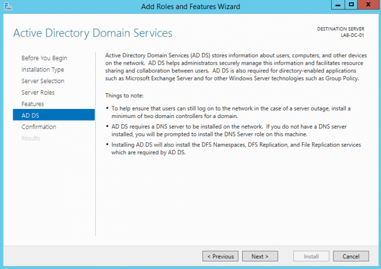 Information about Active Directory Domain Services