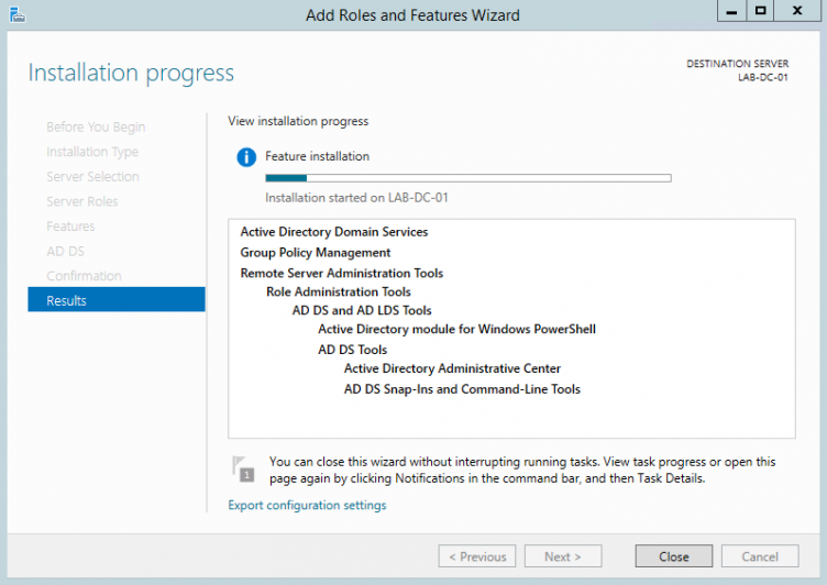 Server 2012 AD DS Installation
