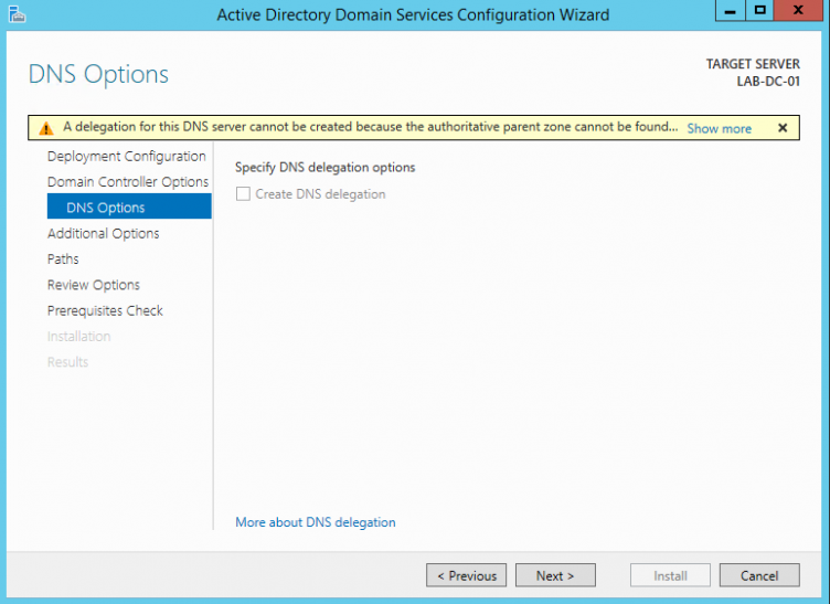 Server 2012 AD DS DNS Options