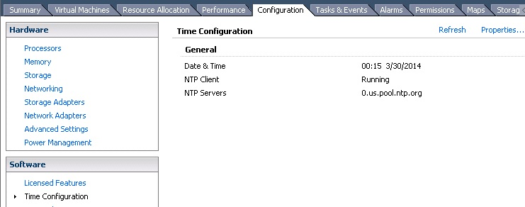 Configuring NTP on ESXi