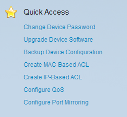Quick Access Section
