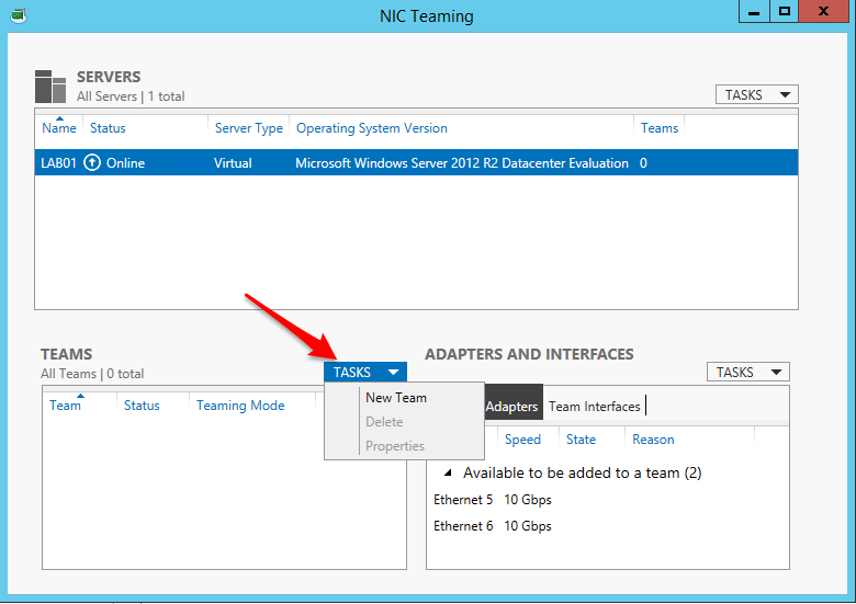NIC Teaming in Windows Server 2012