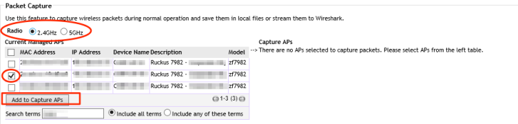 Packet Capture Options