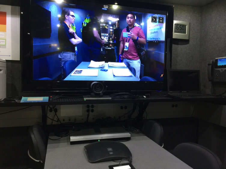 Telepresence inside the Cisco Emergency Response Vehicle